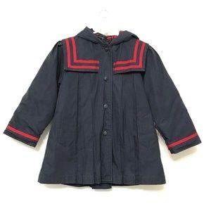 Copper Key Jacket 3T M Sailor Collar Girls Navy